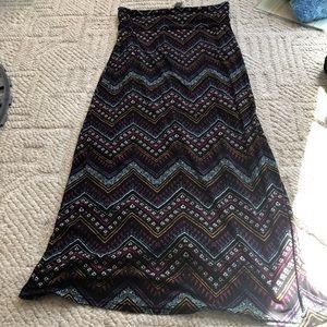 Fold over waistband skirt